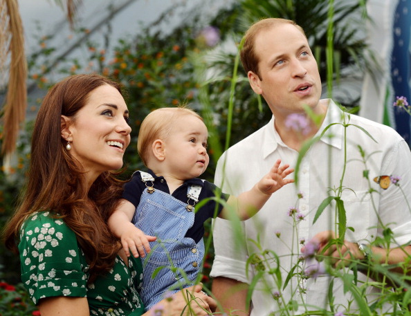 Prince George at a butterfly exhibit at London's Natural History Museum    (Photo: JOHN STILLWELL/AFP/Getty Images)