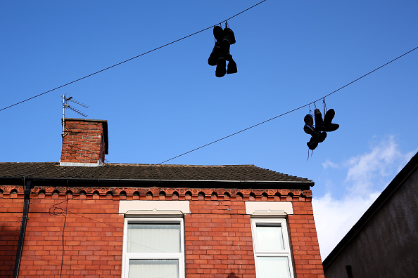 Sneakers on a telephone wire (Photo by Clive Brunskill/Getty Images)