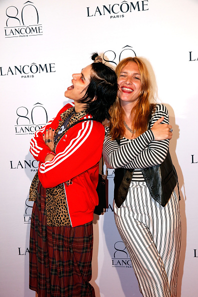 Singer Soko and Josephine de la Baume enjoy the party (Photo by Bertrand Rindoff Petroff/Getty Images)