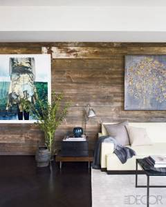 And here we have the reclaimed barn wall.