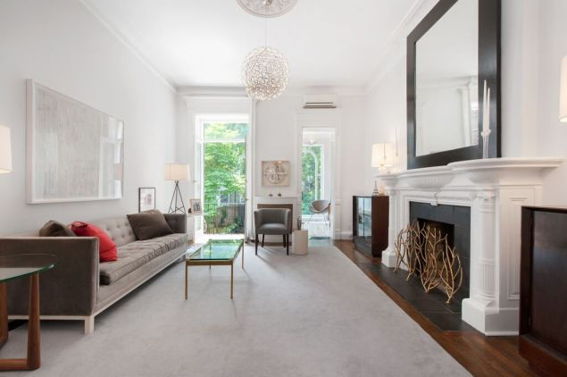Parlor floor living room at 112 West 78th Street. (Corcoran)