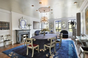 Perhaps the owners were in a blue period while decorating the dining room. (Street Easy)