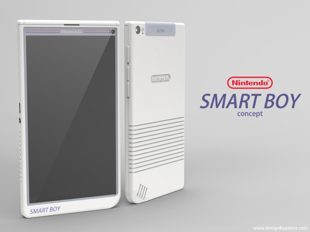 Pierre Cerveau's concept design for a Nintendo mobile phone. (Image used by permission)