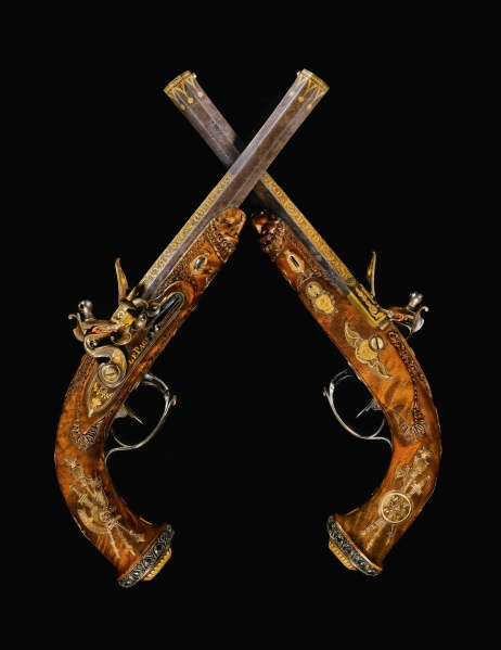 Jean Le Page's Roi de Rome Pistols, (1779-1822) head to auction on July 8. The guns were the emperor's last gift to his son. (Photo: Sotheby's)