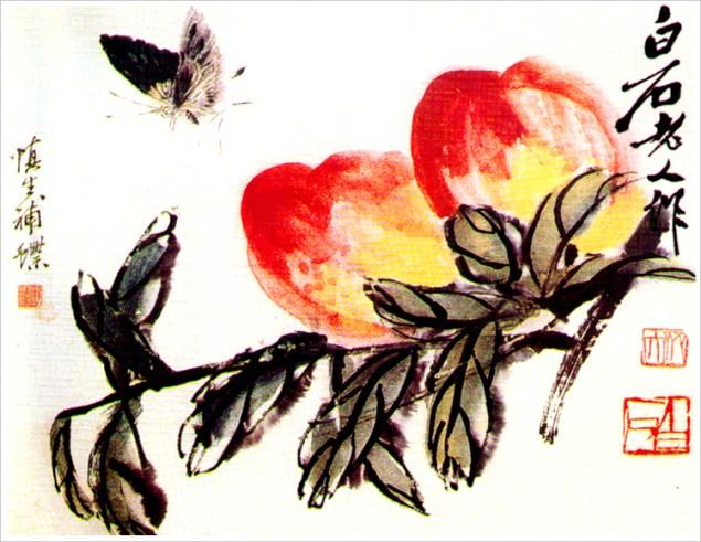 A Qi Baishi watercolor.