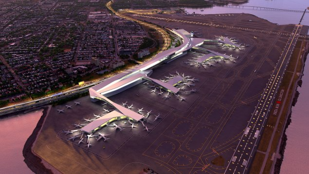 """Cuomo's """"after"""" vision for a """"entirely new"""" Laguardia Airport."""