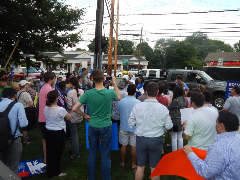 About 50 Garden State Equality allies joined the exercise.