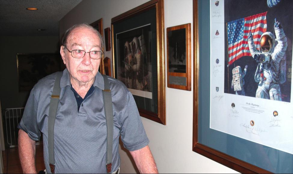 Edgar Mitchell at his West Palm Beach home. (Photo: Robin Seemangal)