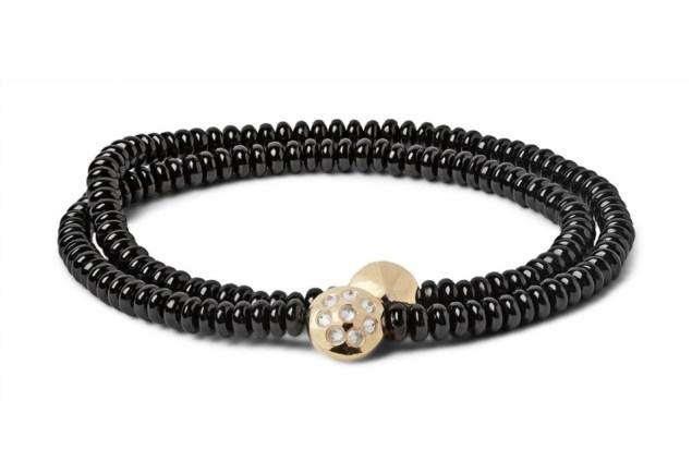 Luis Morais Diamond and Yellow Gold Bead Wrap Bracelet, $2,400, Mrporter.com.