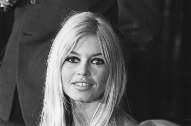 Brigitte Bardot in 1966 at a press conference in London. (Photo: Getty Images)