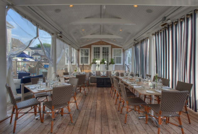 The cafe terrace at The Nantucket. (Photo: The Nantucket)