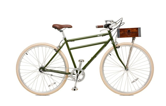 The Calyer bike, with crate. (Photo: Mark Shaw/Brooklyn Bicycle Co.)