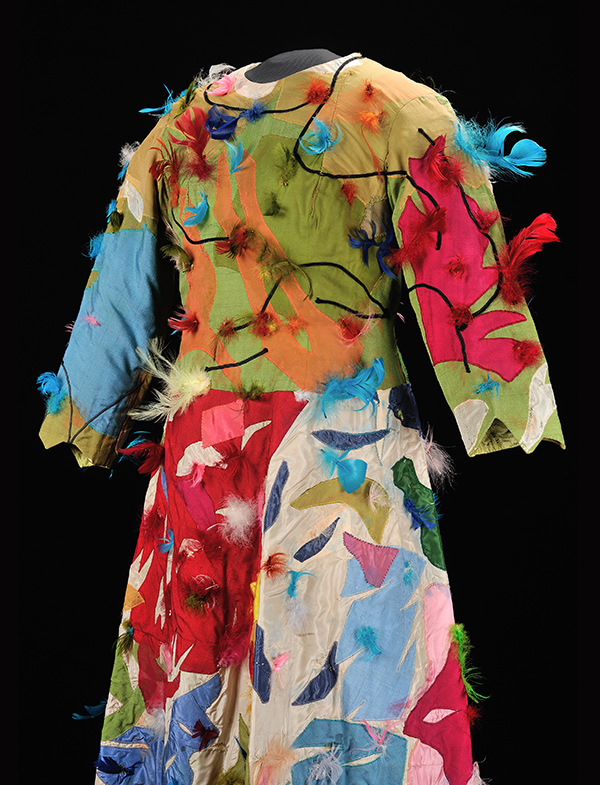 The Papagena costume designed by Marc Chagall was worn by Loretta Di Franco in the 1967 production of The Magic Flute by Mozart (Photo: courtesy of the Metropolitan Opera Archives).