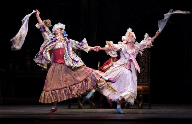 Roman Zhurbin and Craig Salstein in Cinderella.  (Photo: Rosalie O'Connor)