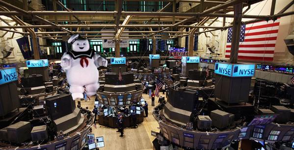 One of many humorous images posted to social media during today's stock exchange outage. (Photo: Twitter)