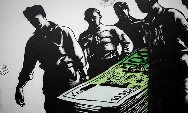 (Photo: Socrates Baltagiannis/dpa/Corbis)  http://www.theguardian.com/world/2015/jul/04/greece-street-art-anti-austerity-murals