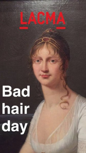 A painting from the museum's collection instantly becomes a viral meme through Snapchat. (Photo: Photo: Los Angeles County Museum of Art via Business Insider)