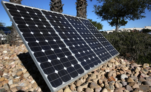 Close up of  a solar panel at a microgrid in California. (Photo: Google Commons)