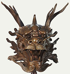 Ai Weiwei's bronze dragon, 2010, from his Zodiac Heads series of sculptures. (Courtesy: National Museum of Wildlife Art)