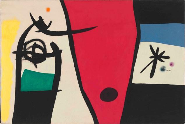 Femme à la voix de rossignol dans la nuit (Woman with the Voice of a Nightingale in the Night) April 18, 1971 by Joan Miró.