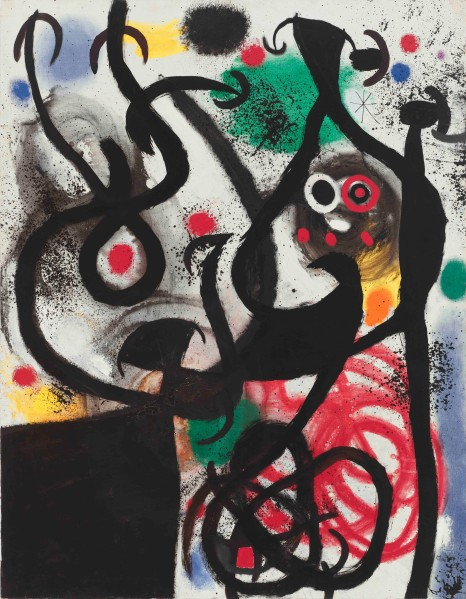 Femme et oiseau dans la nuit (Woman and Bird in the Night) February 14, 1968.