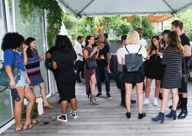 A scene from the collection's launch party on Tuesday night at the James Hotel