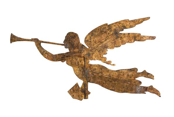 Gould and Hazlett Company, Archangel Gabriel Weathervane. (Photo: Courtesy American Folk Art Museum)