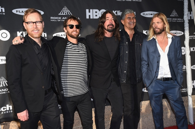 The Foo FIghers at the Rock And Roll Hall Of Fame induction ceremony in April. (Photo: Getty Images)