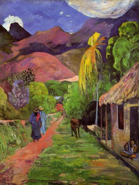 Paul Gauguin, Street in Tahiti (1891). (Photo: Wikipedia)