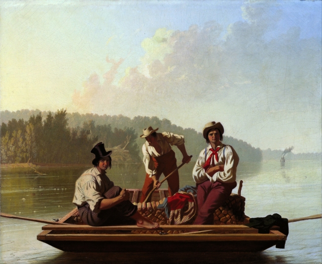 Fur Traders Descending the Missouri, George Caleb Bingham. (Photo:  © The Metropolitan Museum of Art, New York)