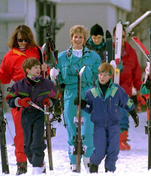 Princess Diana on a ski trip in Lech, Austria. (Photo: MARTIN KEENE/AFP/Getty Images)