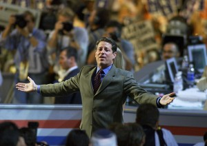 Al Gore, one of many early frontrunners who ended up winning their party's nomination. (Photo by Mark Wilson/Newsmakers)