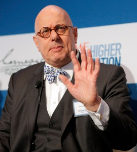"""Leon Botstein speaks during the """"Changing Landscapes"""" panel during the TIME Summit On Higher Education on October 18, 2012 in New York City. (Jemal Countess/Getty Images)"""