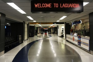 An empty LaGuardia Airport. (Photo by Spencer Platt/Getty Images)