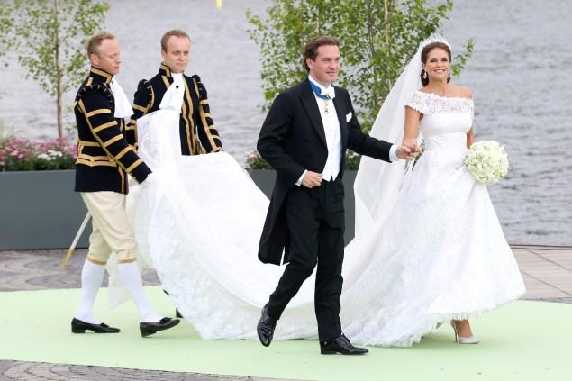 Princess Madeleine in her Valentino-designed dress.  (Photo: Vittorio Zunino Celotto/Getty Images)