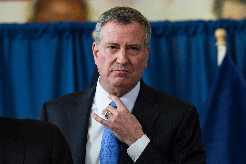 Mayor Bill de Blasio. (Photo: Andrew Burton/Getty Images)