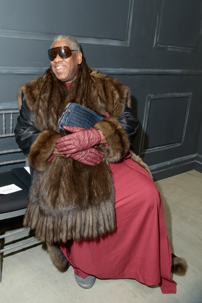 NEW YORK, NY - FEBRUARY 11:  Andre Leon Talley attends the Vera Wang Collection fashion show during Mercedes-Benz Fashion Week Fall 2014 at Dia Center on February 11, 2014 in New York City.  (Photo by Michael Loccisano/Getty Images)