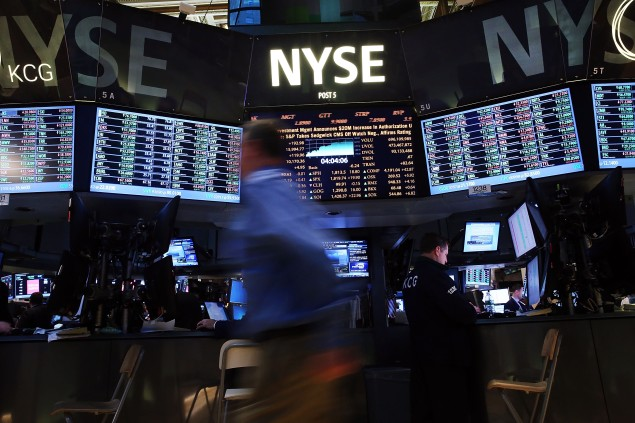 Bad news: the New York Stock Exchange halted trading this morning, but the reasons are still unknown. (Spencer Platt/Getty Images)