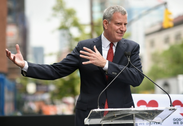 Mayor Bill de Blasio. (Photo: Dimitrios Kambouris/Getty Images)