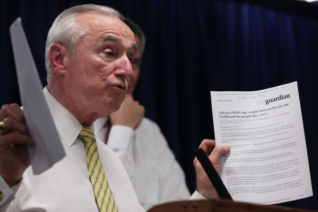 Police Commissioner Bill Bratton at a press conference earlier this year. (Photo by Spencer Platt/Getty Images)