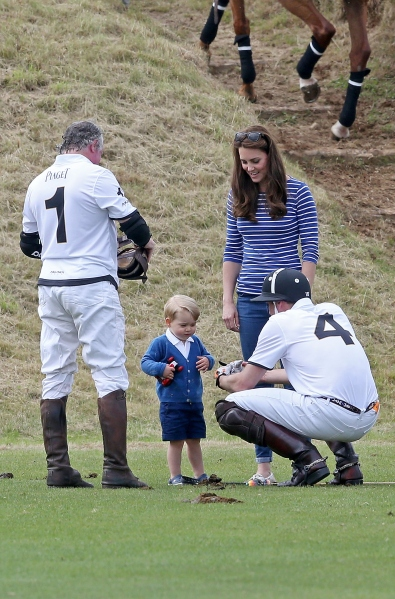 2-year-olds can totally ride horses and wield giant mallets, right?  (Photo: Chris Jackson/Getty Images)