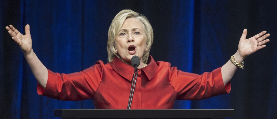 Former Secretary of State and Democratic presidential hopeful Hillary Clinton delivers remarks at the Virginia Democrats Jefferson-Jackson event at George Mason University's Patriot Center in Fairfax, Virginia on June 26, 2015. (Photo: PAUL J. RICHARDS/AFP/Getty Images)
