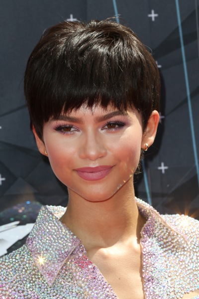 Zendaya sported a bowl cut on the red carpet of the BET Awards on June 28.  (Photo: Frederick M. Brown/Getty Images for BET)