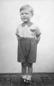 Mick Jagger, age 3, at his home in Brent Lane, Dartford (1946). This previously unseen image will be in displayed in 'Exhibitionism.' (Photo: Courtesy of Stones Archive/Getty Images)