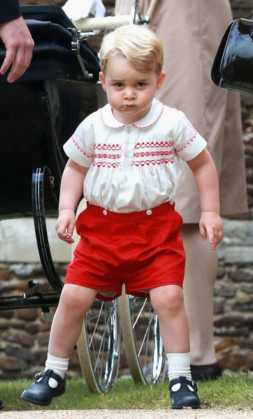 Prince George at sister Charlotte's christening.  (Photo: Chris Jackson/Getty Images)