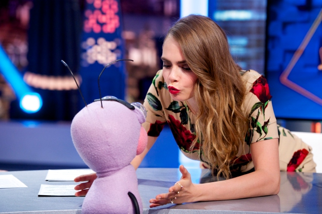 Cara Delevingne is the most fun TV guest.  (Photo by Juan Naharro Gimenez/Getty Images)