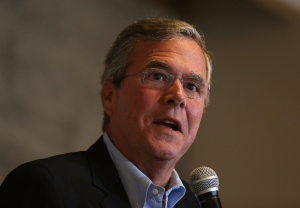 Republican Presidential Candidate Jeb Bush.  (Photo by Justin Sullivan/Getty Images)
