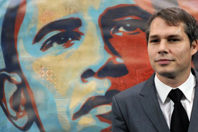 """Artist Shepard Fairey, known for his """"Hope"""" poster during the 2008 election, was arrested in Detroit on charges of malicious destruction of property (Photo: JEWEL SAMAD/AFP/Getty Images)."""