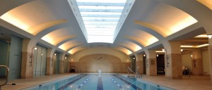 Who doesn't need a 75 foot sky-lit pool? (Mercedes/Berk)
