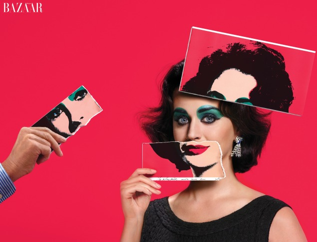 Ms. Perry as Elizabeth Taylor in Harper's Bazaar's 2015 Icons issue. (Photo: Harper's Bazaar)